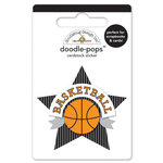 Doodlebug Design - Slam Dunk Collection - Doodle-Pops - 3 Dimensional Cardstock Stickers - Slam Dunk