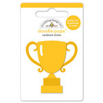 Doodlebug Design - Slam Dunk Collection - Doodle-Pops - 3 Dimensional Cardstock Stickers - Trophy