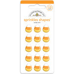 Doodlebug Design - October 31st Collection - Halloween - Sprinkles - Self Adhesive Enamel Shapes - Candy Corn