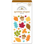 Doodlebug Design - Fall Friends Collection - Sprinkles - Self Adhesive Enamel Shapes - Bits of Fall