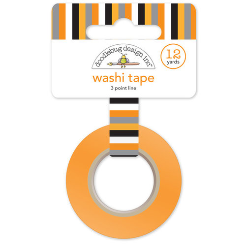 Doodlebug Design - Slam Dunk Collection - Washi Tape - 3 Point Line