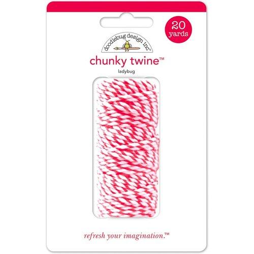 Doodlebug Design - Chunky Doodle Twine - Ladybug