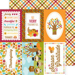 Doodlebug Design - Fall Friends Collection - 12 x 12 Double Sided Paper - Plentiful Plaid
