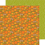 Doodlebug Design - Fall Friends Collection - 12 x 12 Double Sided Paper - Pumpkin Patch