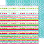 Doodlebug Design - Sugarplums Collection - Christmas - 12 x 12 Double Sided Paper - Christmas Trim