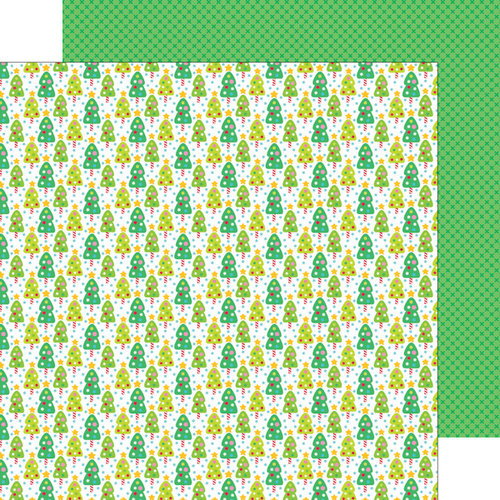 Doodlebug Design - Sugarplums Collection - Christmas - 12 x 12 Double Sided Paper - Candy Forest