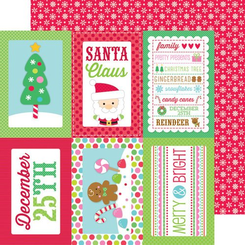 Doodlebug Design - Sugarplums Collection - Christmas - 12 x 12 Double Sided Paper - Merry Magic