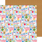 Doodlebug Design - Home Run Collection - 12 x 12 Double Sided Paper - Play Ball