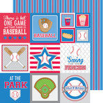 Doodlebug Design - Home Run Collection - 12 x 12 Double Sided Paper - Jersey Stripe