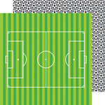 Doodlebug Design - Goal Collection - 12 x 12 Double Sided Paper - Soccer Balls