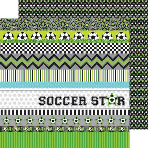 Doodlebug Design - Goal Collection - 12 x 12 Double Sided Paper - Superstar