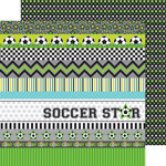 Doodlebug Design - Goal Collection - 12 x 12 Double Sided Paper - Superstar