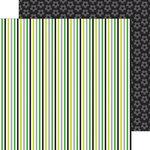 Doodlebug Design - Goal Collection - 12 x 12 Double Sided Paper - Soccer Stripe