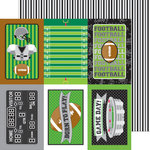 Doodlebug Design - Touchdown Collection - 12 x 12 Double Sided Paper - Sidelines