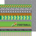 Doodlebug Design - Touchdown Collection - 12 x 12 Double Sided Paper - Star Player