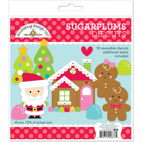 Doodlebug Design - Sugarplums Collection - Christmas - Die Cuts Craft Kit