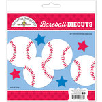 Doodlebug Design - Home Run Collection - Die Cuts Craft Kit - Baseball