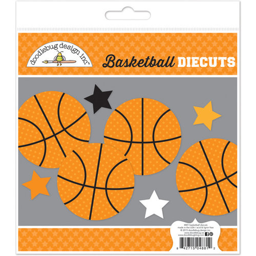 Doodlebug Design - Slam Dunk Collection - Die Cuts Craft Kit - Basketball