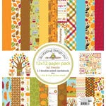 Doodlebug Design - Fall Friends Collection - 12 x 12 Paper Pack