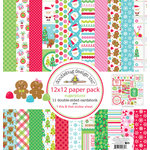 Doodlebug Design - Sugarplums Collection - Christmas - 12 x 12 Paper Pack