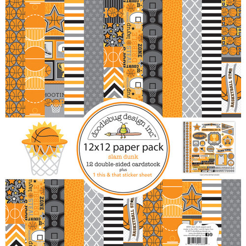 Doodlebug Design - Slam Dunk Collection - 12 x 12 Paper Pack