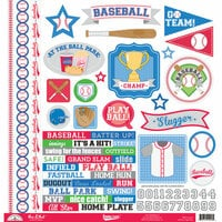 Doodlebug Design - Home Run Collection - 12 x 12 Cardstock Stickers - This and That