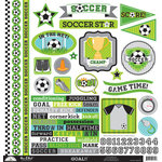 Doodlebug Design - Goal Collection - 12 x 12 Cardstock Stickers - This and That