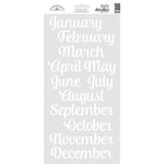Doodlebug Design - Daily Doodles Collection - Cardstock Stickers - Months - Lily White