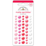 Doodlebug Design - Sweet Things Collection - Matte Sprinkles - Self Adhesive Enamel Dots - Love Assortment