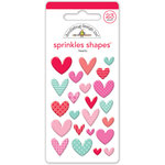 Doodlebug Design - Sweet Things Collection - Sprinkles - Self Adhesive Enamel Shapes - Sweet Hearts Assortment