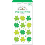 Doodlebug Design - Pot O Gold Collection - Sprinkles - Self Adhesive Enamel Shapes - Shamrocks