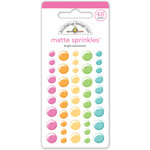 Doodlebug Design - Matte Sprinkles - Self Adhesive Enamel Dots - Bright Assortment