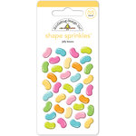 Doodlebug Design - Bunnyville Collection - Sprinkles - Self Adhesive Enamel Shapes - Jelly Beans
