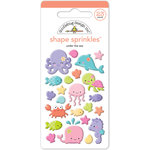 Doodlebug Design - Under the Sea Collection - Sprinkles - Self Adhesive Enamel Shapes
