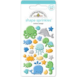 Doodlebug Design - Anchors Aweigh Collection - Sprinkles - Self Adhesive Enamel Shapes