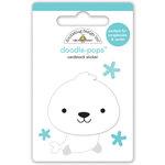 Doodlebug Design - Polar Pals Collection - Doodle-Pops - 3 Dimensional Cardstock Stickers - Baby Seal