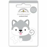 Doodlebug Design - Polar Pals Collection - Doodle-Pops - 3 Dimensional Cardstock Stickers - Happy Husky