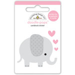 Doodlebug Design - Sweet Things Collection - Doodle-Pops - 3 Dimensional Cardstock Stickers - Ellie