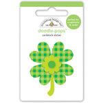 Doodlebug Design - Pot O Gold Collection - Doodle-Pops - 3 Dimensional Cardstock Stickers - Good Luck