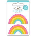 Doodlebug Design - Doodle-Pops - 3 Dimensional Cardstock Stickers - Double Rainbow