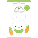 Doodlebug Design - Bunnyville Collection - Doodle-Pops - 3 Dimensional Cardstock Stickers - Mr Bunny