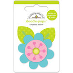 Doodlebug Design - Spring Garden Collection - Doodle-Pops - 3 Dimensional Cardstock Stickers - Spring Flower
