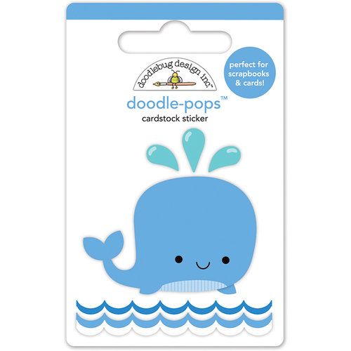 Doodlebug Design - Anchors Aweigh Collection - Doodle-Pops - 3 Dimensional Cardstock Stickers - Wally Whale