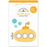 Doodlebug Design - Anchors Aweigh Collection - Doodle-Pops - 3 Dimensional Cardstock Stickers - Yellow Submarine