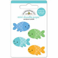 Doodlebug Design - Anchors Aweigh Collection - Doodle-Pops - 3 Dimensional Cardstock Stickers - Minnows Mini