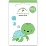 Doodlebug Design - Anchors Aweigh Collection - Doodle-Pops - 3 Dimensional Cardstock Stickers - Tiny Turtle