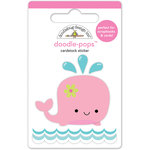 Doodlebug Design - Under the Sea Collection - Doodle-Pops - 3 Dimensional Cardstock Stickers - Winnie Whale