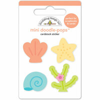 Doodlebug Design - Under the Sea Collection - Doodle-Pops - 3 Dimensional Cardstock Stickers - Sweet Seashells Mini
