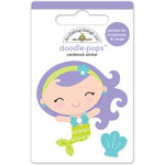 Doodlebug Design - Under the Sea Collection - Doodle-Pops - 3 Dimensional Cardstock Stickers - Mini Mermaid