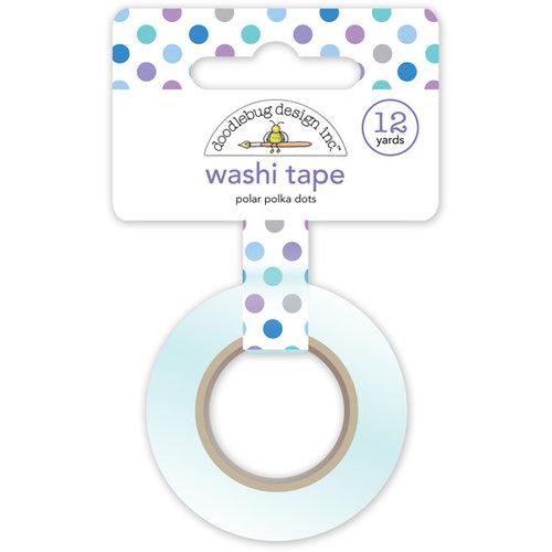 Doodlebug Design - Polar Pals Collection - Washi Tape - Polar Polka Dots